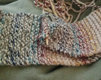 Hand Knit Multi-Color Scarf