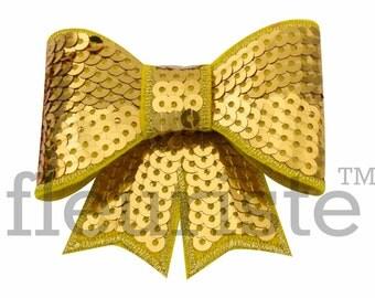GOLD 3 inch Sequin Bows, Mini Sequin Bows, Mini Bows, Sparkly Bows, Fabric Bows, DIY Bows, Soft Bows, Wholesale Bows, Diy Headband