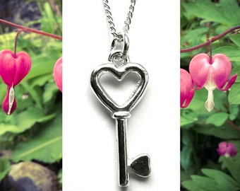 SALE 50% OFF - Handmade Keyheart Charm Necklace