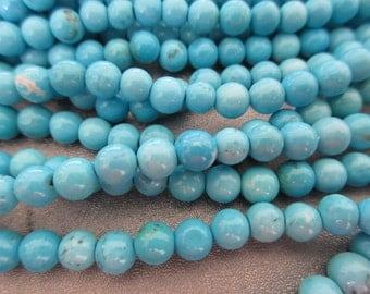 Magnesite Turquoise Round 6mm Beads 68pcs
