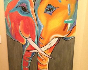 Hugging Elephants