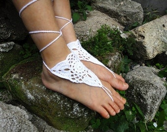 Beach Anklet Crochet Barefoot Sandals  Foot Jewelry