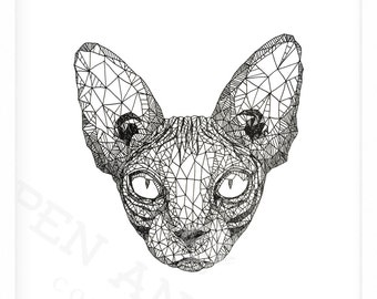 Sphynx Cat - Geometric Series