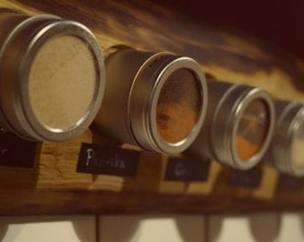 Spice rack: Spice holder wooden & magnetic