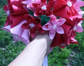 Paper Flower Kusudama Origami Wedding Bouquet