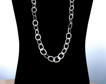 Sterling silver links chain necklace