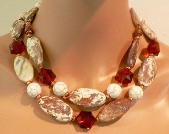 Double /Brown /Matte Agate/Safari/Copper/Versatile/Chic