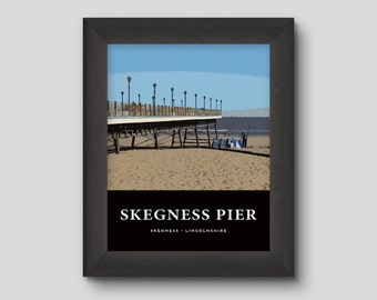 Skegness Pier - Version 2 - Skegness Poster Print Home Decoration Wall Hanging