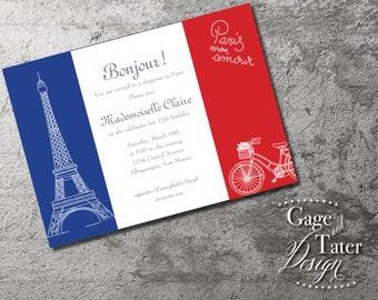 Bon Jour - 5x7 Printable Invitation