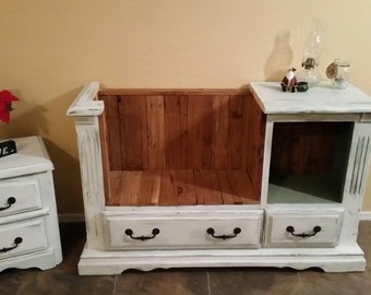 From old dresser to Lovely Bench Seat!