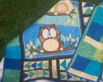 Owl baby/toddler quilt