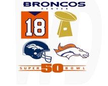 Denver Broncos NFL super bowl 50 svg, dxf, eps cutting files for cricut and Silhouette Cameo
