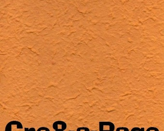 Cre8-a-Page E-13 Handmade Ultra Orange Embossed Paper 12x12 Scrapbooking, 10 Sheets