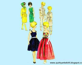 Pattern: Vintage Barbie Clothing Butterick 3385