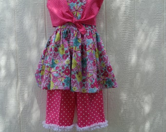 Girls Bolero-Dress and Capri Pants  Size 8