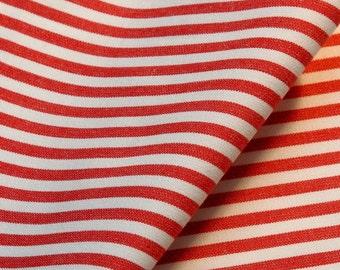 Tissu toile rayures