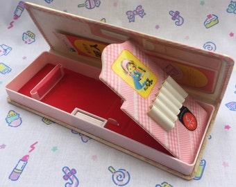Kutsuwa Vintage 80s Pencil Case. Japan