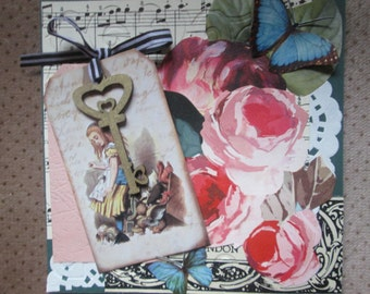 Altered Alice handmade card