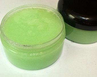Organic Sugar Scrub scented with Ripe Kiwi & Lemongrass - 8oz