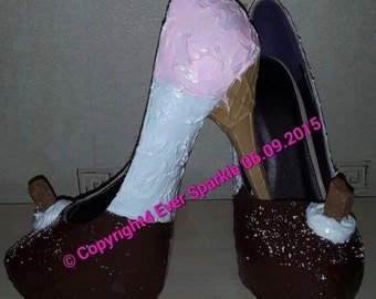 Neapolitan Ice Cream Heels