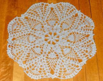 Crochet doily lace white