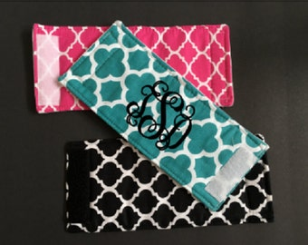 Quatrefoil can cuddler, coozie,Quatrefoil Wrap, can wrap, can hugger, cozy, beer huggie, insulated drink holder