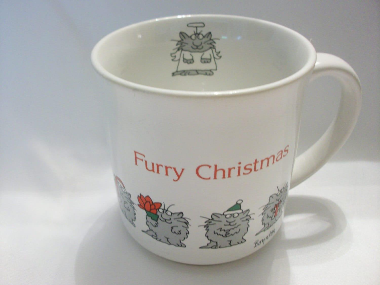 Boynton Furry Christmas Mug Christmas Cat Mug