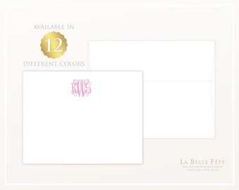 CLASSIC MONOGRAM personalized stationery / flat note cards