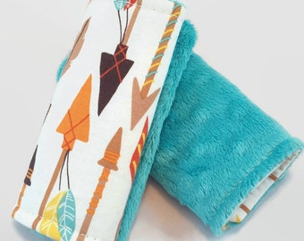 Arrow Car Seat Covers, Car Seat Strap Covers,Reversible, Tribal Nursery, Indian Arrows, Carseat Strap Covers, Strap Covers