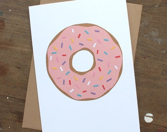 Frosted Donut with Sprinkles Greeting Card