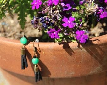 Shiny green - earrings