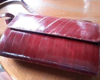 Italian Eel Skin Shoulder Bag or Clutch