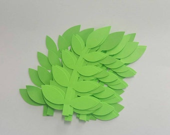 25 PAPER LEAVES