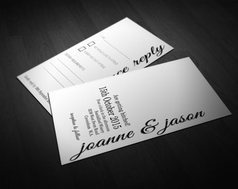 Side Modern Wedding Stationery Set