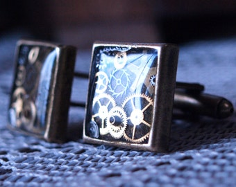 Timeless Steampunk Square Cufflink