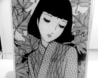 Japanese girl on A4 perspex