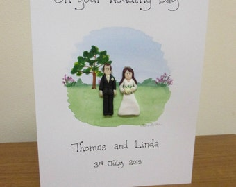 Personalised Wedding Card - Garden