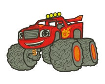 """Embroidery File - Red Monster Truck, 4x4"""" 5x7"""" 6x10"""" & More, Digital File, Full Machine Stitch File not Applique - Instant Download"""
