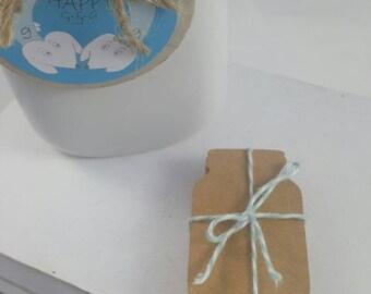 Mason jar tags, Qty 50, rustic wedding tags, kraft tags, mason jar, farm