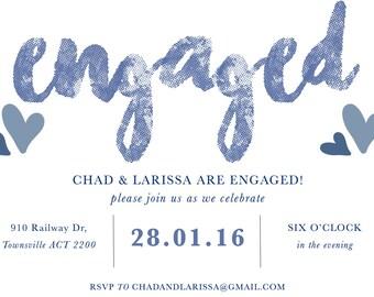 Custom Engagement Party Invitations