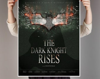 Batman, Alternative movie poster, The Dark Knight Rises, Batman printable poster, Batman boy room decor, Office decor, A1, by janovelty