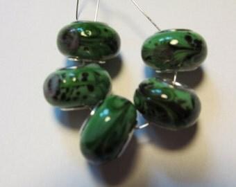 5 glass beads fits european bracelet - LHJ3-2