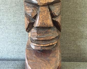 tiki statue - wooden