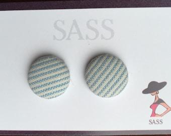 Style button earrings