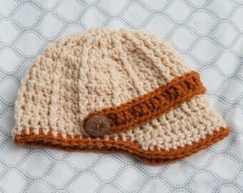 Newsboy Cap (Baby/Toddler Boy's Crochet Hat)