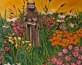 St Francis-a print ready to frame.