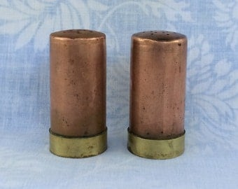 Copper and Brass Salt & Pepper Shakers