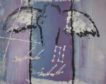 Lavender Angel in Flight