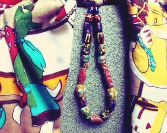 "Necklace ""Thai rainbow"""