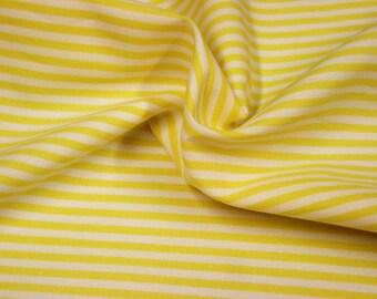 Vichy stripe fabric yellow 2.5 mm